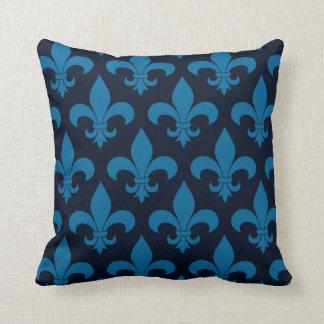 Diseño parisiense del modelo francés azul de la fl almohada