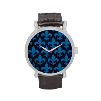 Diseño parisiense del modelo francés azul de la relojes de mano