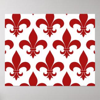 Diseño parisiense del modelo francés de la flor de impresiones