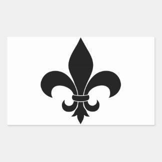 Diseño parisiense del modelo francés de la flor de pegatina rectangular