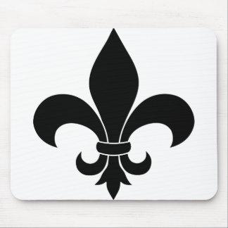 Diseño parisiense del modelo francés de la flor de tapetes de raton