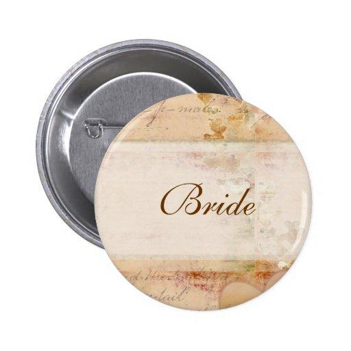 Diseño pasado de moda del boda del vintage pin