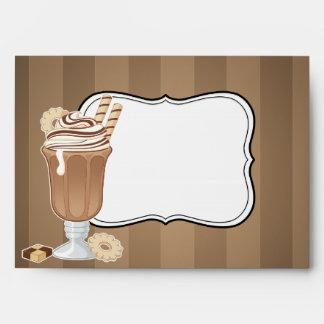 Diseño pasado de moda lindo del milkshake del