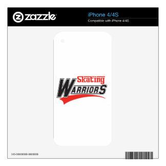 diseño patinador de los guerreros calcomanías para iPhone 4S