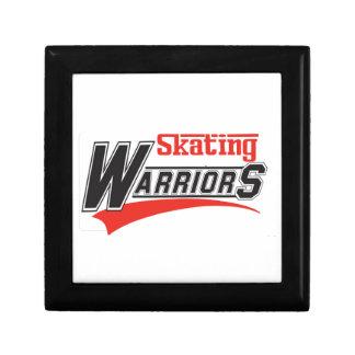 diseño patinador de los guerreros joyero cuadrado pequeño