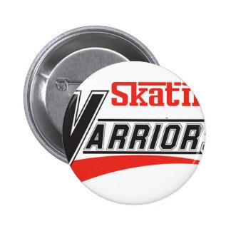 diseño patinador de los guerreros pin redondo de 2 pulgadas