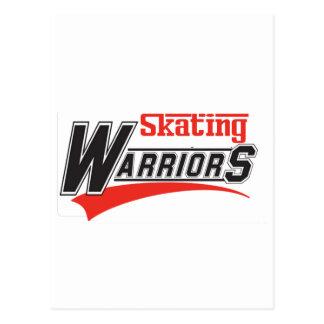 diseño patinador de los guerreros tarjetas postales