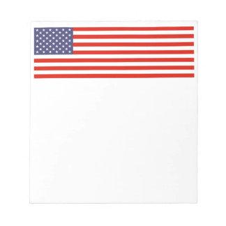 Diseño patriótico americano de los cuadernos de no bloc de notas