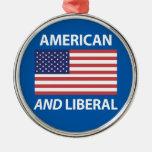 Diseño patriótico americano Y liberal de la bander Ornamentos Para Reyes Magos