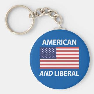 Diseño patriótico americano Y liberal de la Llavero Redondo Tipo Pin