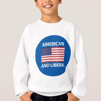 Diseño patriótico americano Y liberal de la Sudadera