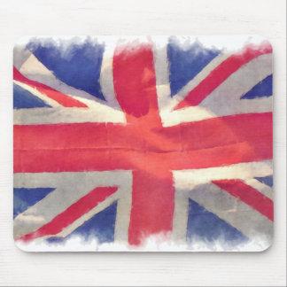 Diseño patriótico británico de Union Jack de la ba Tapete De Raton
