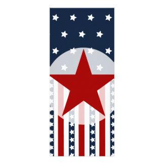 Diseño patriótico de la bandera americana de las comunicados personalizados