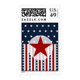 Diseño patriótico de la bandera americana de las sellos