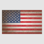 Diseño patriótico de la bandera americana del rectangular altavoces