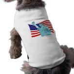 Diseño patriótico de la bandera prenda mascota
