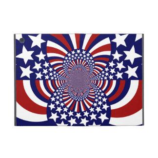 Diseño patriótico de las barras y estrellas de los iPad mini cobertura