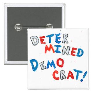 Diseño patriótico del orgullo Democratic para los Pin Cuadrado