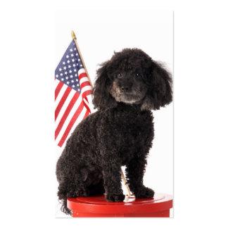 Diseño patriótico del perrito tarjeta de visita