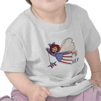 Diseño patriótico del verano del ángel de julio camiseta
