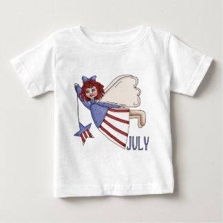 Diseño patriótico del verano del ángel de julio playera de bebé