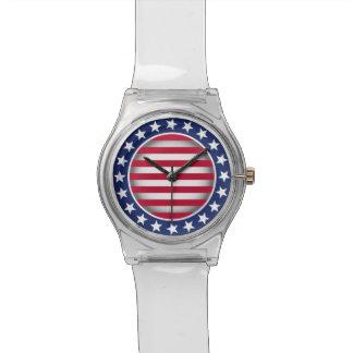 Diseño patriótico relojes de mano