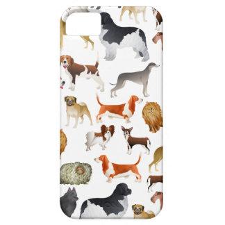 Diseño pedigrí lindo del papel pintado del perro iPhone 5 carcasa