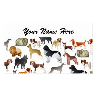 Diseño pedigrí lindo del papel pintado del perro tarjetas de visita