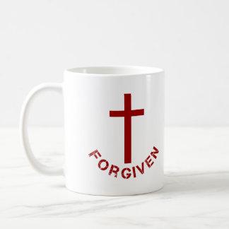 Diseño perdonado cristiano de la Cruz Roja y del Taza Clásica
