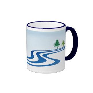 Diseño perezoso del río taza de dos colores