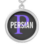 Diseño persa del monograma collar