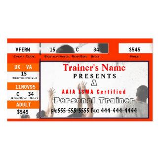 Diseño personal del boleto del instructor tarjetas personales