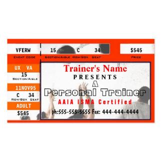Diseño personal del boleto del instructor plantilla de tarjeta de visita