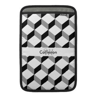 Diseño personalizado blanco negro de la ilusión funda para macbook air