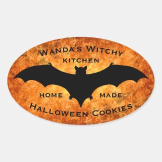 Diseño personalizado de Halloween Pegatina Ovalada