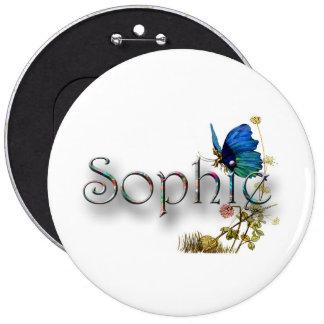 """Diseño personalizado de """"Sophie"""" Pin Redondo De 6 Pulgadas"""