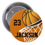 Diseño personalizado del baloncesto chapa redonda 7 cm