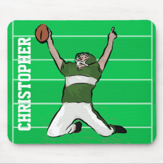 Diseño personalizado del futbolista del hierro de tapetes de raton