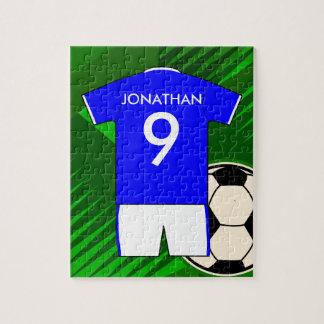 Diseño personalizado del jersey del fútbol del rompecabezas