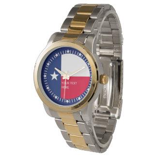 Diseño personalizado del reloj de la bandera del
