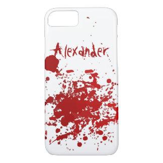 Diseño personalizado del salpicón de la sangre funda iPhone 7
