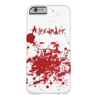 Diseño personalizado del salpicón de la sangre funda para iPhone 6 barely there