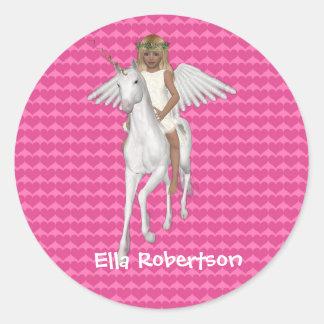 Diseño personalizado del unicornio del pegatina