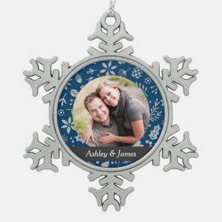 Diseño personalizado el | del ornamento de la foto adornos