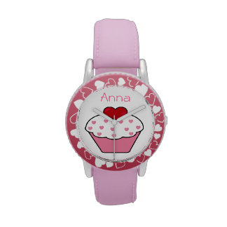 diseño personalizado magdalena rosada linda reloj de mano