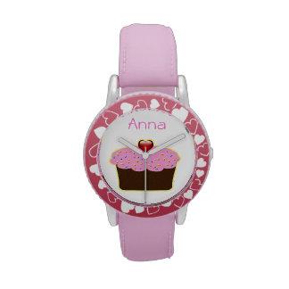 diseño personalizado magdalena rosada linda relojes de mano