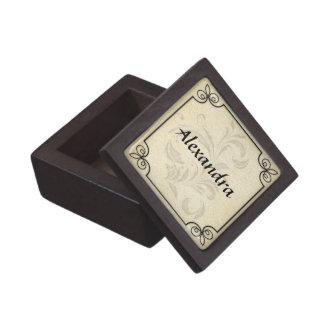 Diseño personalizado marco elegante de la voluta cajas de joyas de calidad