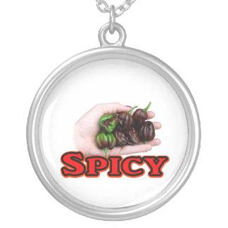 Diseño picante del pimiento picante del habanero d colgante redondo