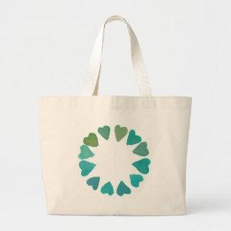 diseño pintado a mano del watercolour verde del co bolsa