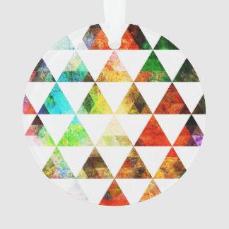 Diseño pintado gráfico del triángulo